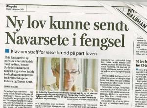 Aftenposten sendte statsråden rett i fengsel. Etterpå så angret de dypt og inderlig. (Illustrasjon: Faksimile av nyhetsartikkel, inkludert illustrasjonsfoto)