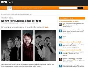 Faksimile fra NRK Betas sider med spøk.
