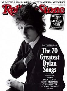 Coveret til Rolling Stone den 24. mai 2011, Dylans 70-årsdag.