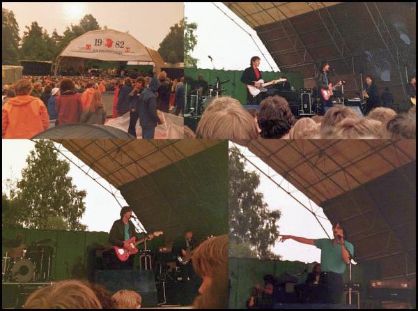 Kalvøya 1982. Jackson Browne med band (Foto: Jan Fredrik Lockert)