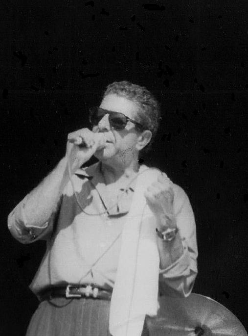 Leonard Cohen på Kalvøya i 1988. Han leverte varene gang på gang (Foto: Marianne Melfald)