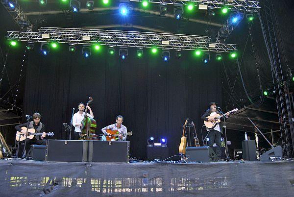 Lilllebjørn Nilsen (til h.) og Trio Seresta på Norwegian Wood 2017