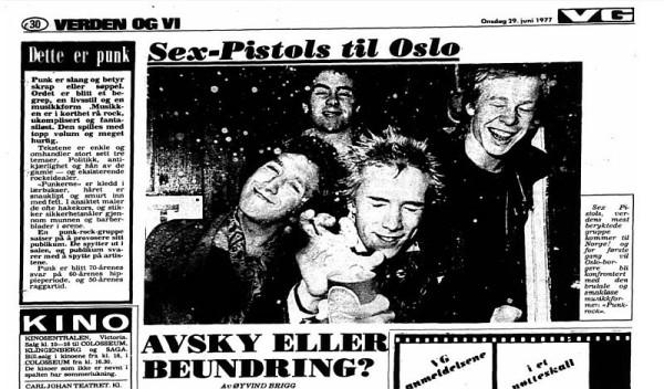 Faksiimile fra VG, 1977